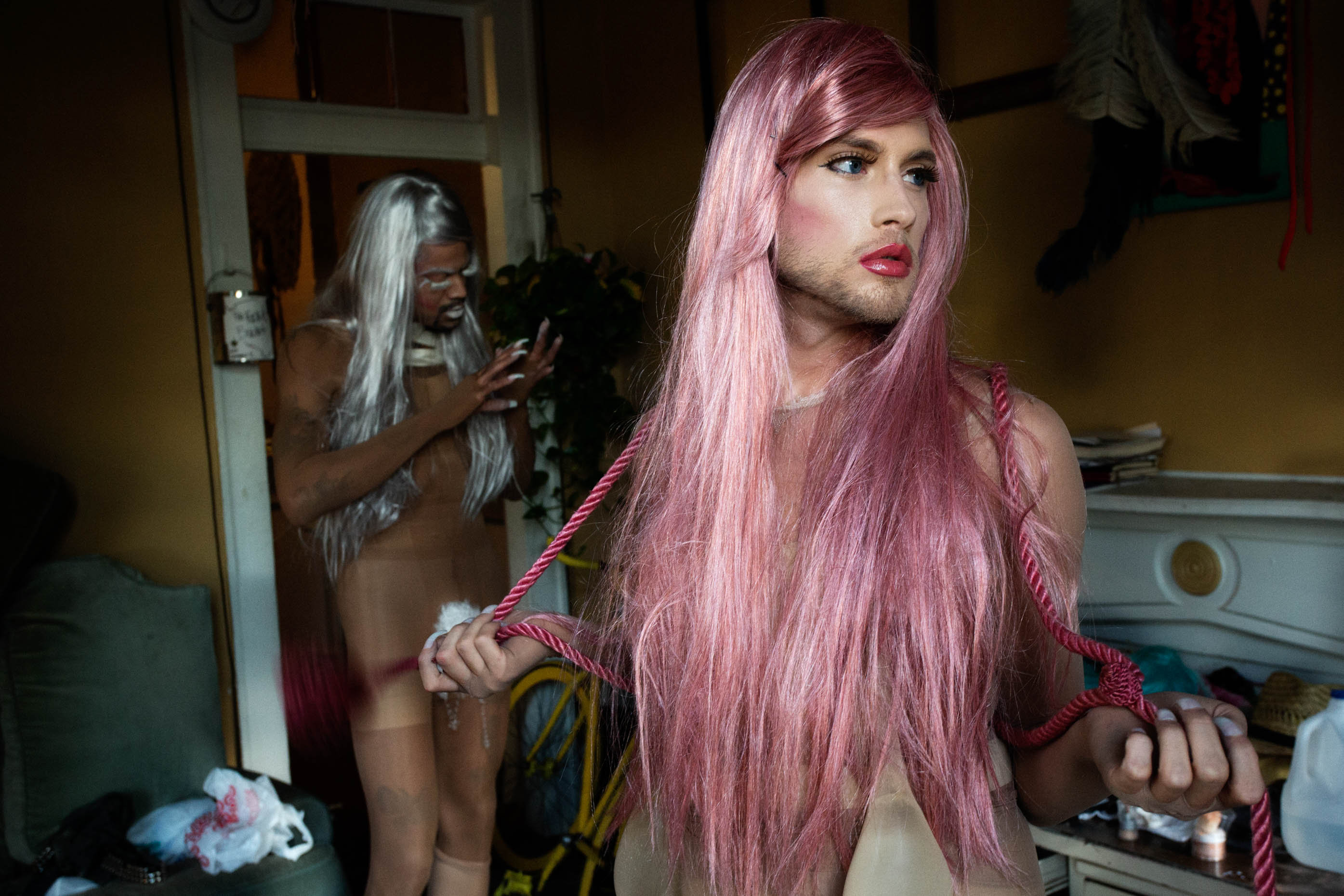 man in drag, new orleans, louisiana